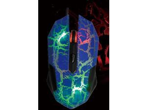 USB 800 / 1600 / 2400 / 3200dpi Wired Optical Mouse with Hybrid 7 color colourful LED illuminate BLUE