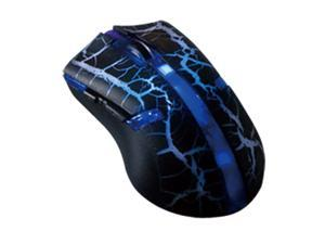 Colorful LED 6 button USB 2.0 Wired adjustable 800/1600/2400/3200dpi Optical Game Mouse - Blue