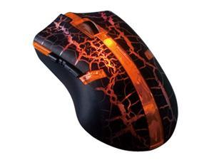 Colorful LED 6 button USB 2.0 Wired adjustable 800/1600/2400/3200dpi Optical Game Mouse - Orange