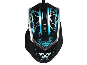 Genius thor King Ergonomic 2000 DPI Shift 6D Professional Gaming Backlit USB 2.0 Optical Mouse with Mouse Pad Set