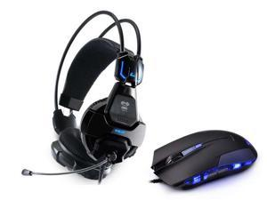 Cobra 707 HS707 Professional Blue Light Illuminated Gaming Headset Headphone with Microphone For Gaming Skype +Cobra Wired ...