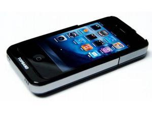 Quantum Imports Protective Case and Extended Rechargeable Battery for iPhone 4, 1680 mAh (89400-Black)
