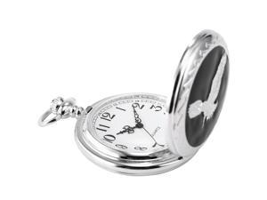 Timebear Unique Mens Womens Retro Eagle Classic Quartz Pocket Watch WPK105