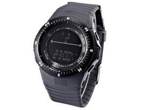 HOTARU Digital LCD Sport Date Alarm Chronograph Gray Rubber Mens Wrist Watch HTR209