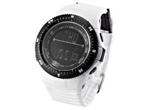 HOTARU LCD Digital Date Alarm Chronograph Unisex Men Sport White Rubber Watch HTR211