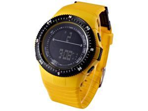 HOTARU Yellow LCD Digital Date Alarm Chronograph Lady Men Sport Rubber Watch HTR212