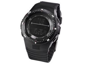 HOTARU Black LCD Digital Date Day Alarm Chronograph Mens Sports Rubber Watch HTR216