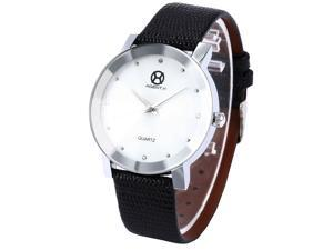 AgentX White Elegant Crystal Unique Mens Quartz Watch with Extra Mesh Steel Band AGX002