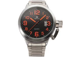 ORKINA Military Marine Waterproof Date Stainless Steel Band Mens Wrist Watch ORK178
