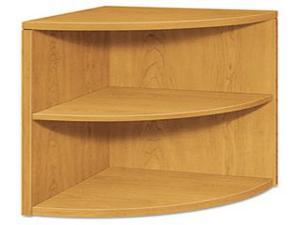 HON 105520CC Two-Shelf End Cap Bookshelf, 24w x 24d x 29-1/2h, Harvest