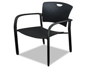 Oui Stack Chair, Polypropylene Back/Seat, 2 Chairs/Carton