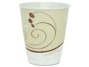 Hot Cups, Symphony Design, 8 oz., Beige, 1000/Carton