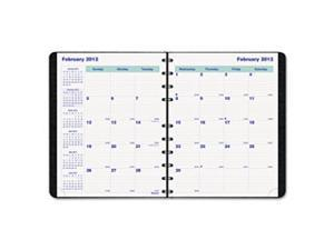 Blueline MiracleBind 17-Month Planner, Soft Cover, 9-1/4 x 7-1/4, Black