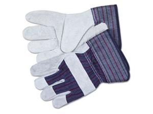 Crews 12010XL Split Leather Palm Gloves, Gray