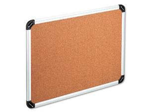 Bulletin Board, Natural Cork, 48 x 36, Aluminum Frame