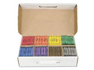 Crayons Made with Soy, 100 Each of 8 Colors, 800/Box