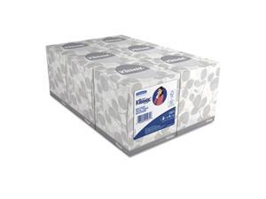 KLEENEX 21271 White Facial Tissue, 2-Ply, Pop-Up Box, 95/Box, 6 Boxes/Pack, 1 Pack