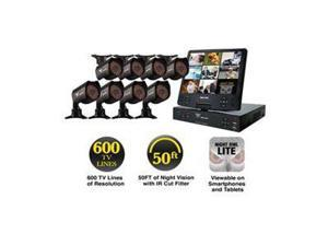 "Night Owl NODVR108-54-685 8 Channel H.264 Level, 8 x 600 TVL, Day&Night Cameras, 10.1"" LCD, 500GB HDD, Surveillance DVR Kit"