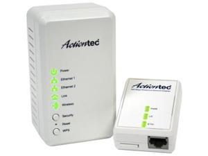 Actiontec PWR51WK01 AV500 Powerline +Wireless N300 Network Extender kit