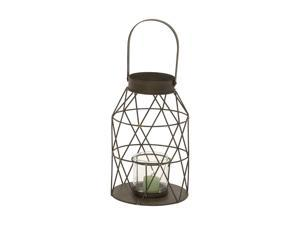 BENZARA 42571 Fancy Metal Glass Lantern