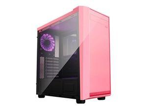 APEVIA X-MIRAGE-PK Apevia X-MIRAGE-PK No Power Supply ATX Mid Tower w Side Window (Pink)