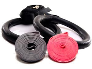 Rubberbanditz Assisted Gymnastic Ring and 41 inch Continuous Loop Pull up / Crossfit Bands Kit - Medium, Heavy - 20 - 85 ...