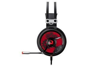 Bloody M660 MOCI HiFi Gaming Headset Built-in Microphone Boom, Light Weight, Compatible Across Platforms (Black/Red)