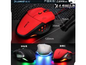 NEW 8D X-LSWAB L9 Lions PC Optical Usb Pro-Gaming Mouse 6Buttons CS CF WOW RAZER Mice RED