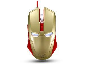 8D 2400DPI Spotlight Leopard Iron Man S3 6 Buttons X3 Usb Gaming Mouse - Ergonomic Hybrid Design -Ultrafast Response -High-End ...