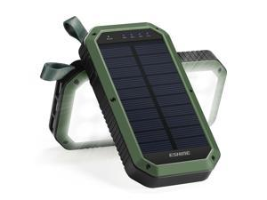 UrChoiceLtd® ESHINE Solar Charger, 10000mAh 3-Port USB and 21LED Light Solar Power Bank Portable Battery Cellphone Charger, Solar Panel for Emergency Outdoor Camping Hiking for Android Cellphones