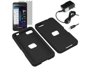Premium Silicone Skin Cover Case For BlackBerry Z10 + LCD Home Charger