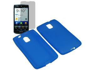 Premium Silicone Skin Cover Case For Pantech Discover + LCD Guard