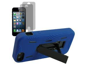 Fusion Series Dual Hard Shield Cover Case For Apple iPhone 5 S + 2 LCD Guard