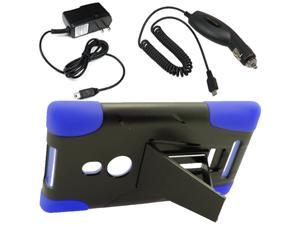 Armor Hard Shell Stand Cover Case For TMobile Nokia Lumia 925 Car Home Charger