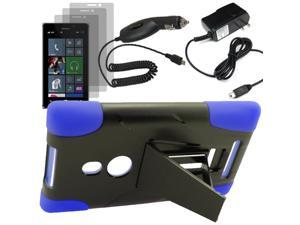Armor Hard Shell Stand Case For TMobile Nokia Lumia 925 3x LCD Car Home Charger