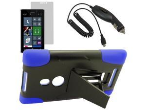 Armor Hard Shell Stand Cover Case For TMobile Nokia Lumia 925 LCD Car Charger