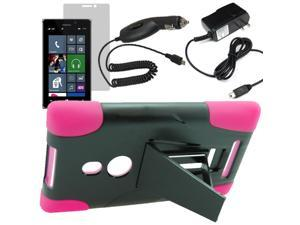 Armor Hard Shell Stand Cover Case TMobile Nokia Lumia 925 LCD Car Home Charger