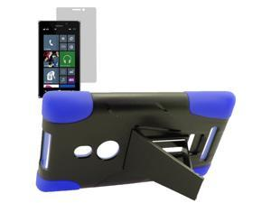 Armor Hard Shell Stand Cover Case For TMobile Nokia Lumia 925 LCD Film