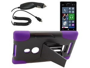 Armor Hard Shell Stand Cover Case For TMobile Nokia Lumia 925 Car Charger