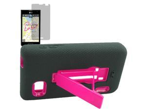 Armor Hard Shell Stand Case For LG Optimus F3 MS659 LCD Film