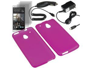 Crystal TPU Gel Skin Cover Case For ATT HTC One Mini 3x LCD Car Home Charger