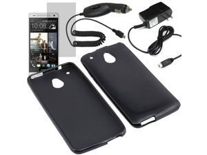 Crystal TPU Gel Skin Cover Case For ATT HTC One Mini LCD Car Home Charger