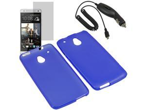 Crystal TPU Gel Skin Cover Case For ATT HTC One Mini LCD Car Charger
