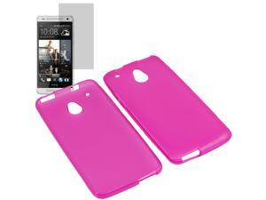 Crystal TPU Gel Skin Cover Case For ATT HTC One Mini LCD Film