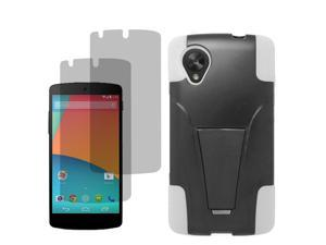 Armor Hard Shell Stand Case For LG Google Nexus 5 D820 2x LCD Film