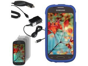 Protector Hard Shell Cover Case Samsung Galaxy Light T399 3 LCD Car Home Charger