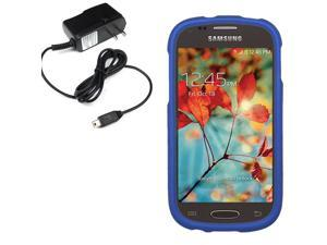 Protector Hard Shell Cover Case For Samsung Galaxy Light T399 Travel Charger