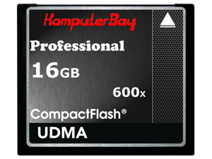 KOMPUTERBAY 16GB Professional COMPACT FLASH CARD CF 600X 90MB/s Extreme Speed UDMA 6 RAW 16 GB - OEM
