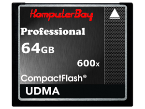 KOMPUTERBAY 64GB Professional COMPACT FLASH CARD CF 600X 90MB/s Extreme Speed UDMA 6 RAW 64 GB - OEM