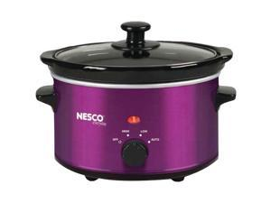 NESCO SC-150V 1.5-Quart Oval Slow Cooker (Metallic Purple)